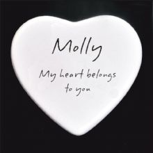 My Heart Belongs to You Boxed Ceramic Heart - Personalised Valentine's Day, Engagement or Wedding Gift